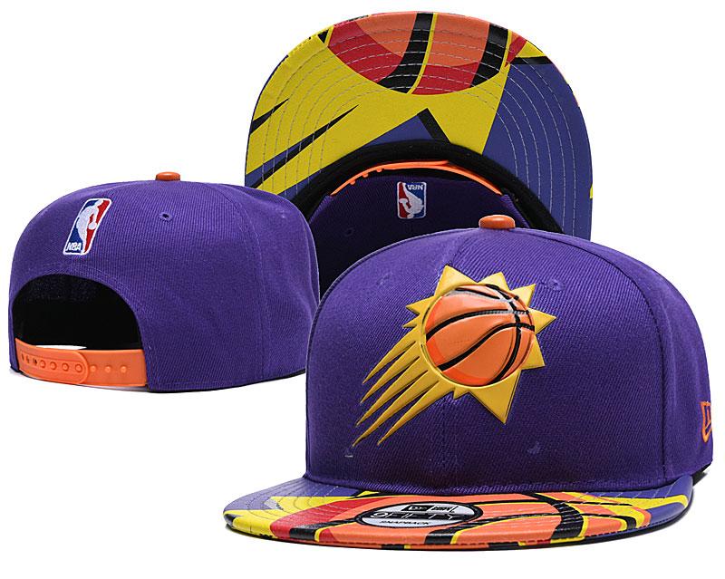 Suns Team Logo Purple Adjustable Hat YD