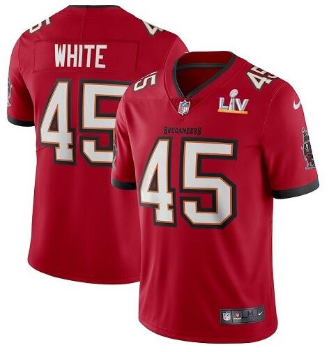 Nike Buccaneers 45 Devin White Red 2021 Super Bowl LV Vapor Untouchable Limited Jersey