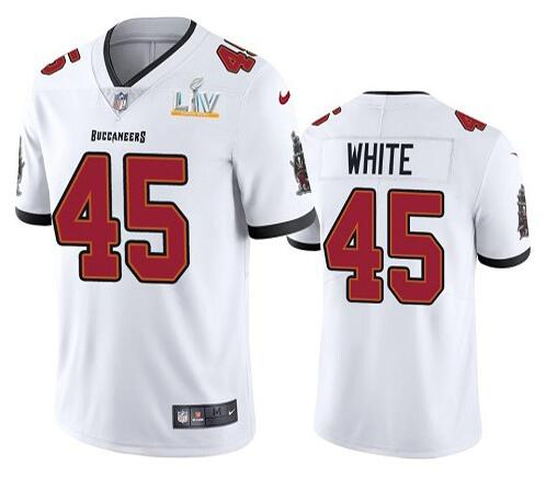 Nike Buccaneers 45 Devin White White 2021 Super Bowl LV Vapor Untouchable Limited Jersey