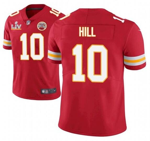 Nike Chiefs 10 Tyreek Hill Red 2021 Super Bowl LV Vapor Untouchable Limited Jersey