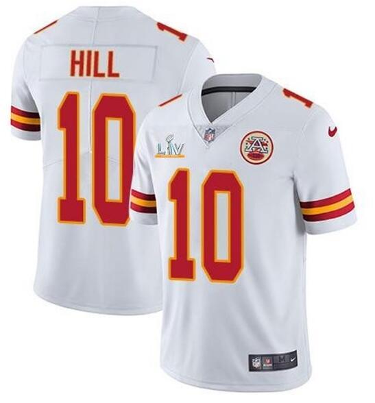 Nike Chiefs 10 Tyreek Hill White 2021 Super Bowl LV Vapor Untouchable Limited Jersey