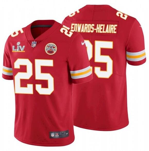 Nike Chiefs 25 Clyde Edwards-Helaire Red 2021 Super Bowl LV Vapor Untouchable Limited Jersey