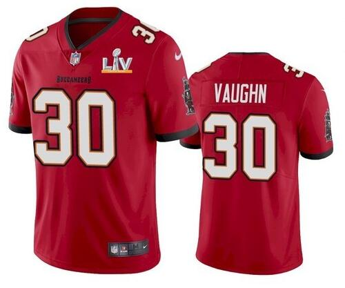 Nike Buccaneers 30 Ke'Shawn Vaughn Red 2021 Super Bowl LV Vapor Untouchable Limited Jersey
