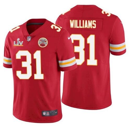 Nike Chiefs 31 Darrel Williams Red 2021 Super Bowl LV Vapor Untouchable Limited Jersey