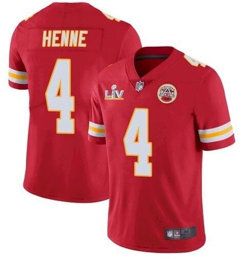 Nike Chiefs 4 Chad Henne Red 2021 Super Bowl LV Vapor Untouchable Limited Jersey