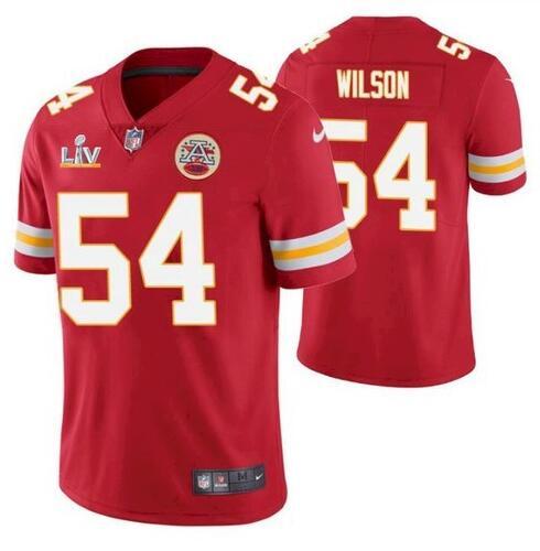 Nike Chiefs 54 Damien Wilson Red 2021 Super Bowl LV Vapor Untouchable Limited Jersey