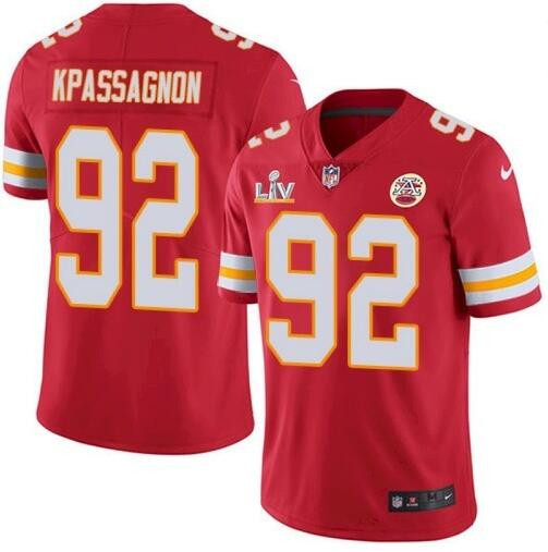 Nike Chiefs 92 Tanoh Kpassagnon Red 2021 Super Bowl LV Vapor Untouchable Limited Jersey