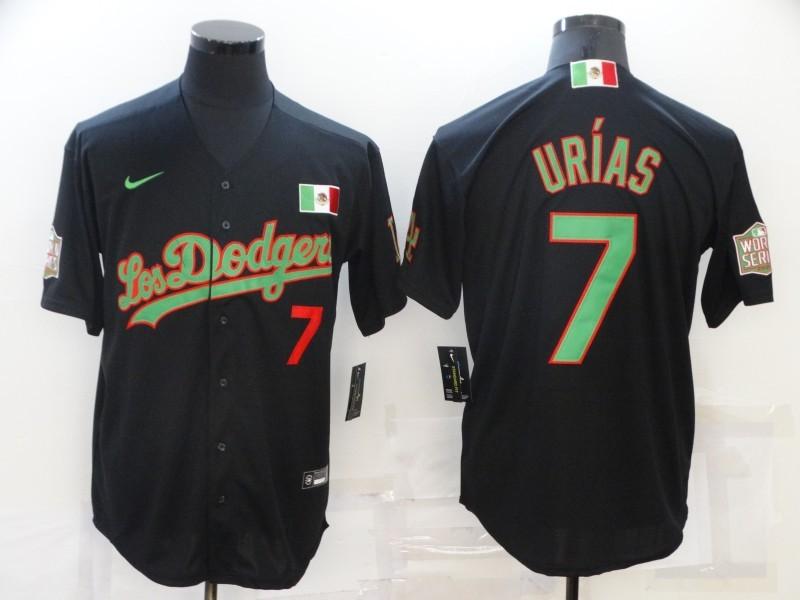 Dodgers 7 Julio Urias Black Mexico Cool Base Jersey