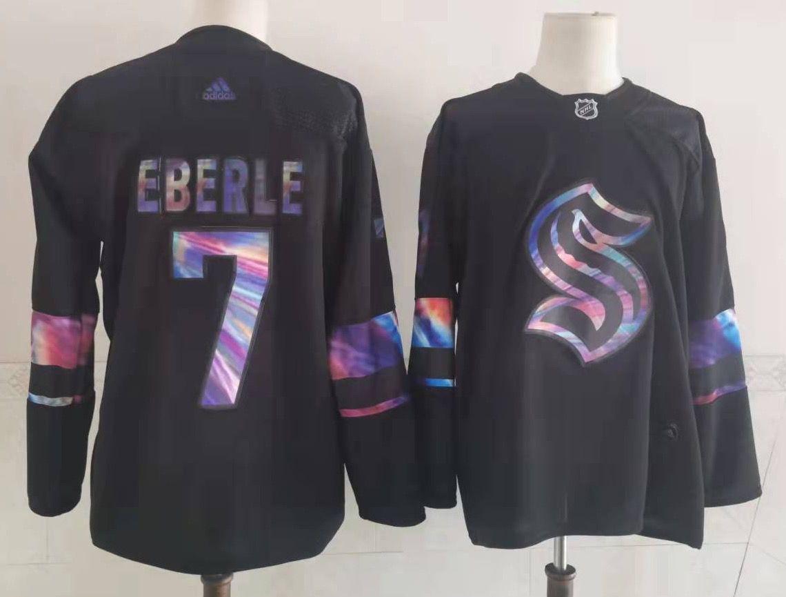 Seattle Kraken 7 Jordan Eberle Black Adidas Jersey