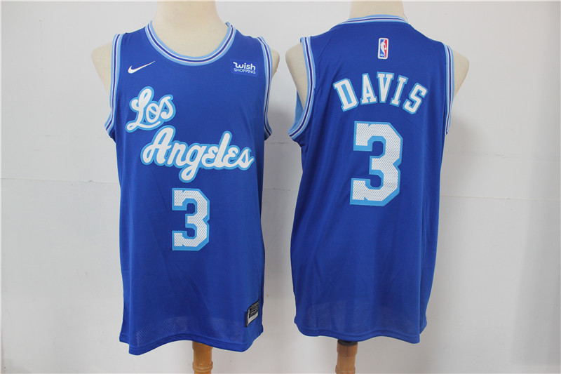 Lakers 3 Anthony Davis Blue 2021 Nike Swingman Jersey