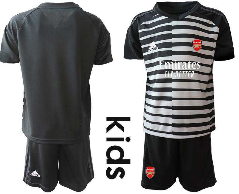 2020-21 Arsenal Black Youth Goalkeeper Soccer Jersey