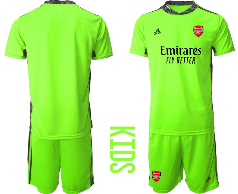 2020-21 Arsenal Fluorescent Youth Goalkeeper Soccer Jersey