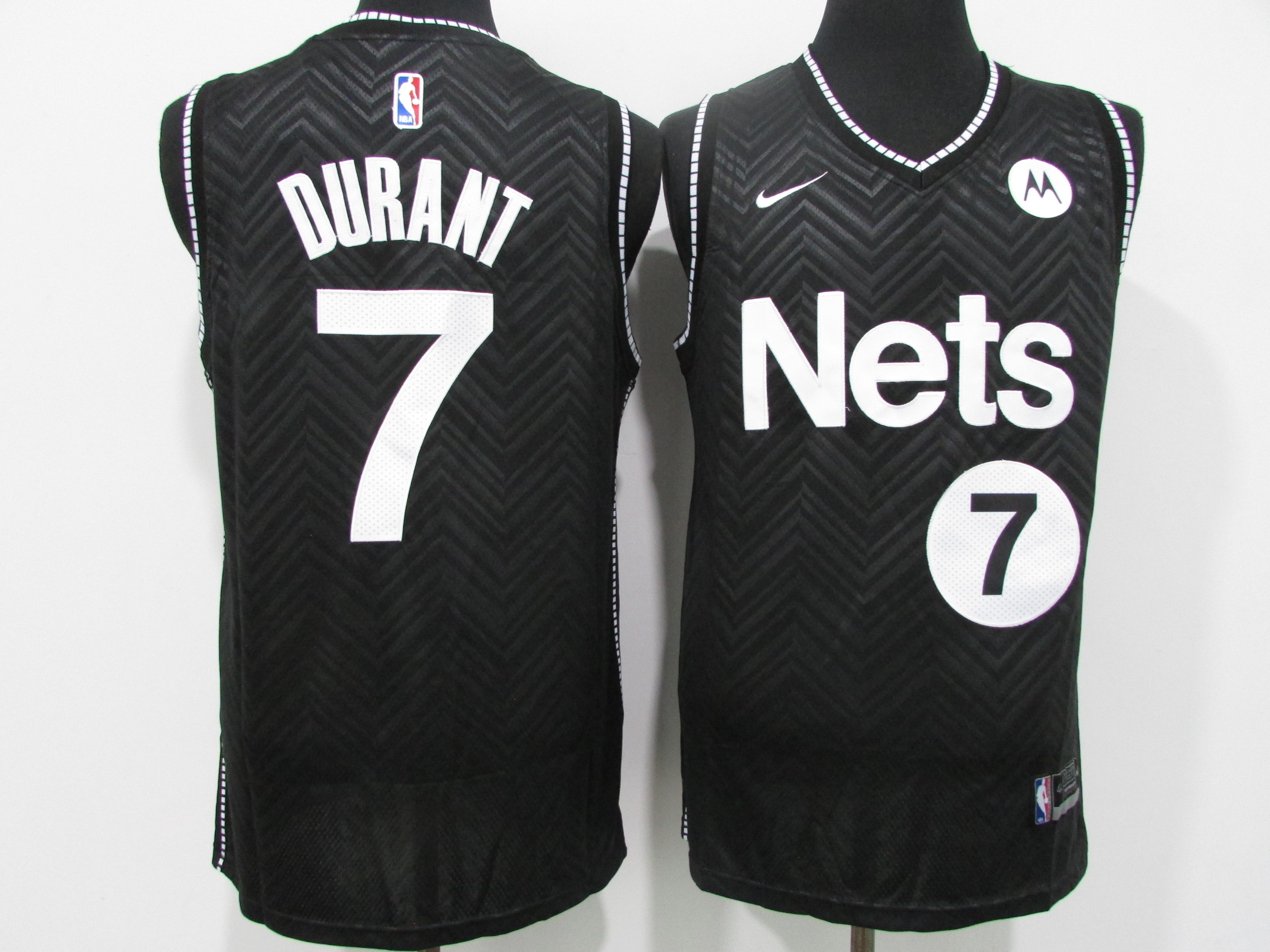 Nets 7 Kevin Durant Black 2021 Earned Edition Swingman Jersey