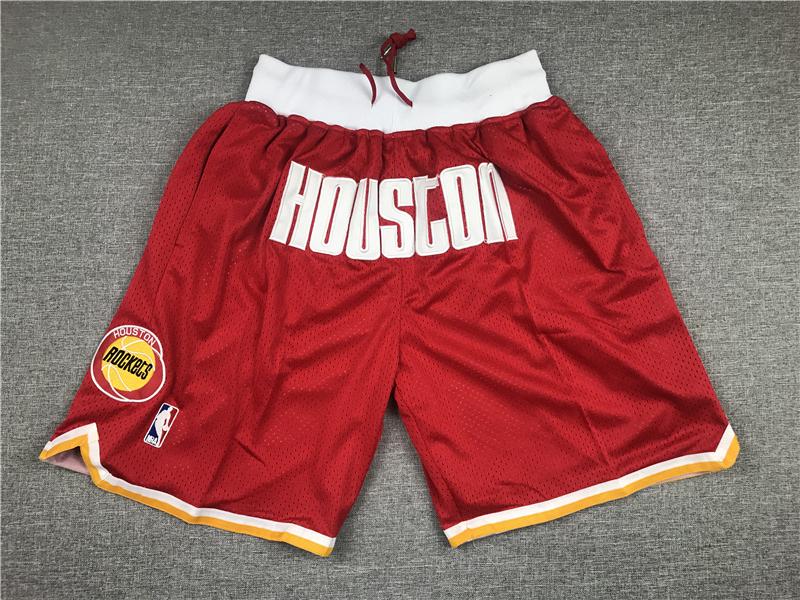 Rockets Teams Red Just Don With Pocket Swingman Shorts