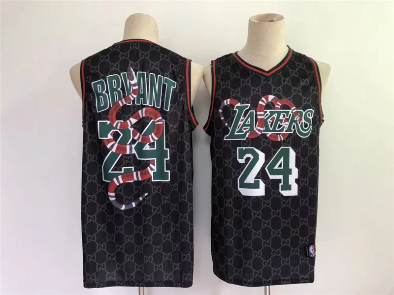 Lakers 24 Kobe Bryant Black Nike Mamba Swingman Fashion Jersey