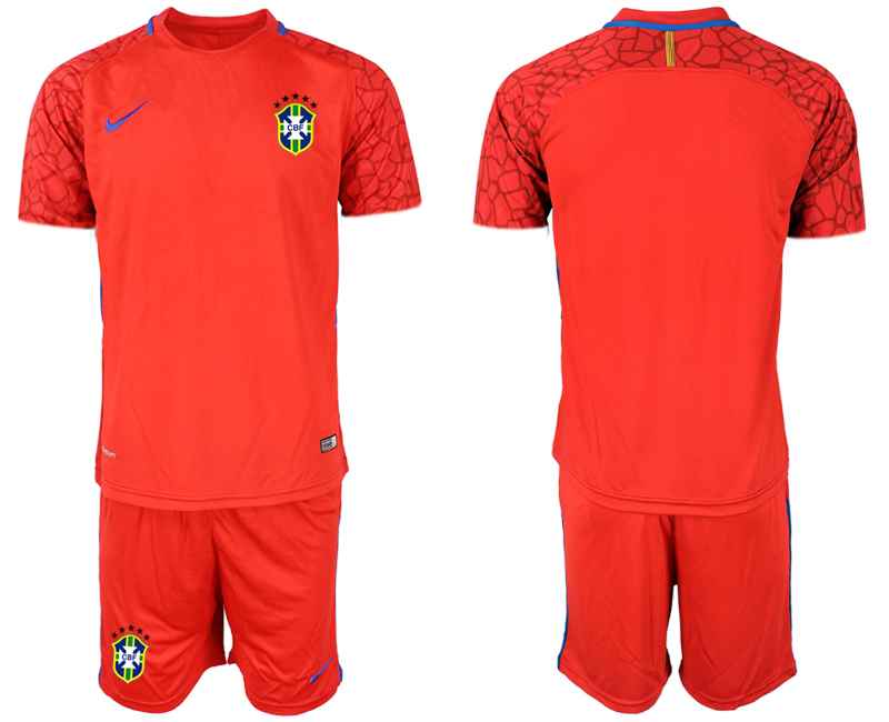 2020-21 Brazil Red Goalkeeper Soccer Jerseys