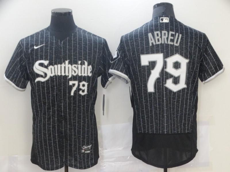 White Sox 79 Jose Abreu Black 2021 City Connect Flexbase Jersey