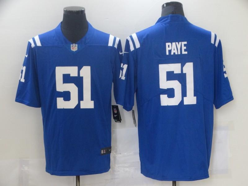 Nike Colts 1 Kwity Paye Royal 2021 NFL Draft Vapor Untouchable Limited Jersey
