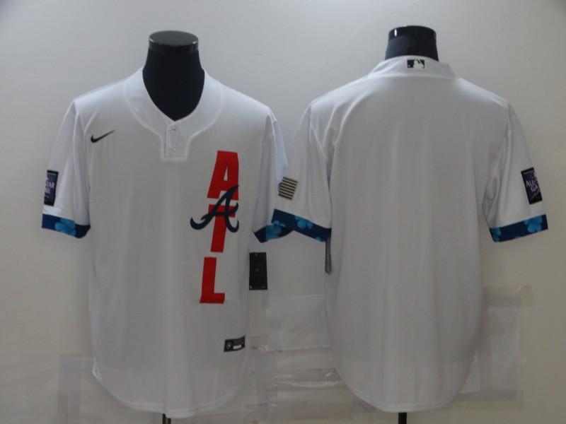 Braves Blank White Nike 2021 MLB All-Star Cool Base Jersey