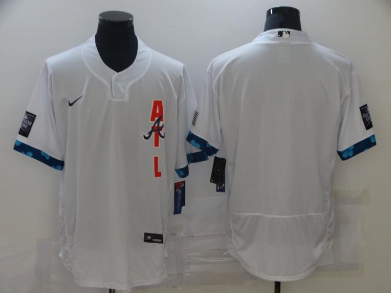 Braves Blank White Nike 2021 MLB All-Star Flexbase Jersey