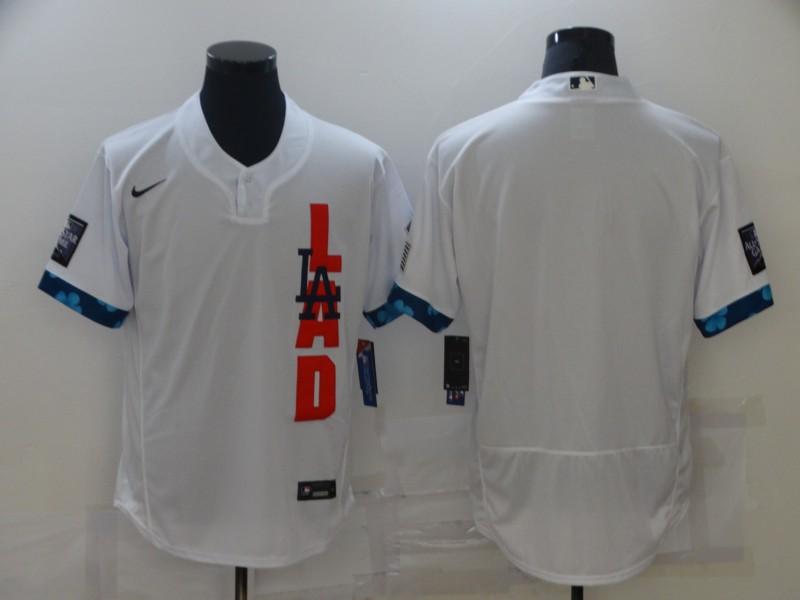 Dodgers Blank White Nike 2021 MLB All-Star Flexbase Jersey