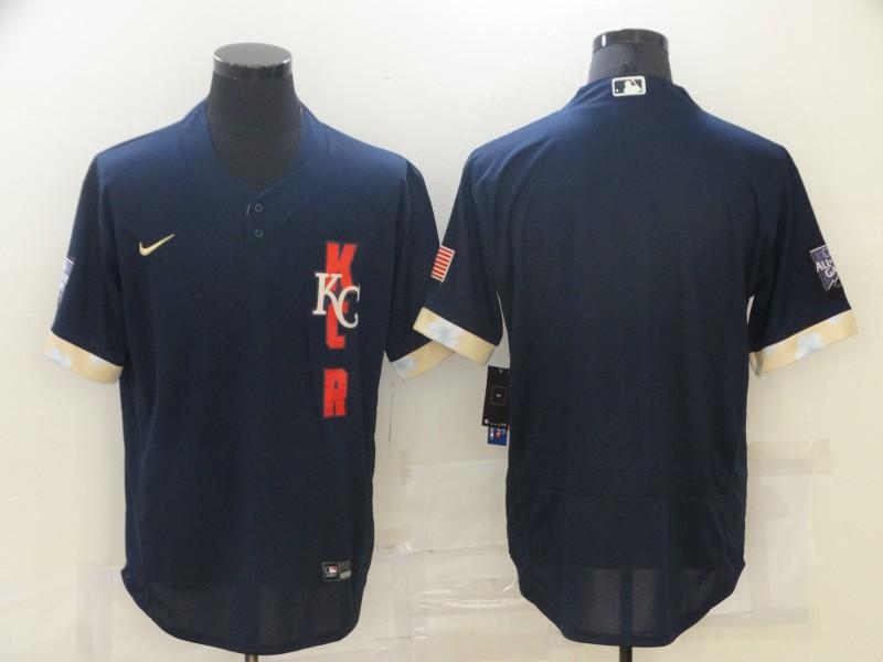 Royals Blank Navy Nike 2021 MLB All-Star Flexbase Jersey