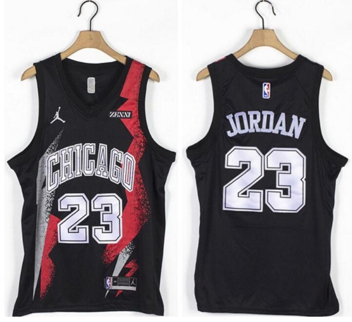 Bulls 23 Michael Jordan Black Jordan Brand Swingman Jersey