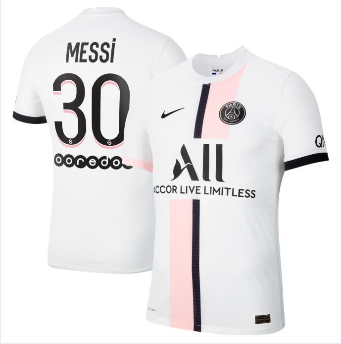 2021-22 Paris Saint-Germain 30 LIONEL MESSI Away Soccer Jersey