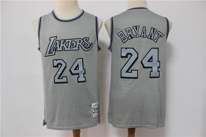 Lakers 24 Kobe Bryant Gray Hardwood Classics Jersey