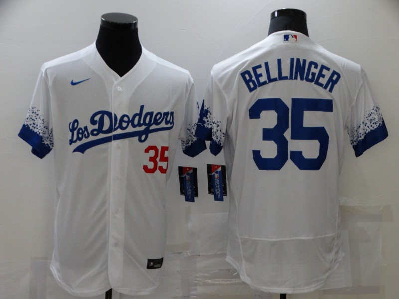 Dodgers 35 Cody Bellinger White 2021 City Connect Flexbase Jersey