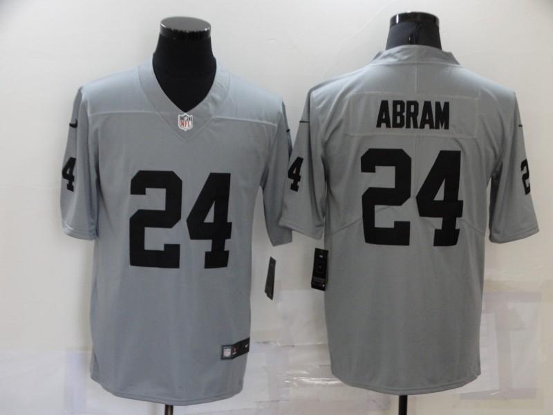 Nike Raiders 24 Johnathan Abram Gray Inverted Legend Limited Jersey