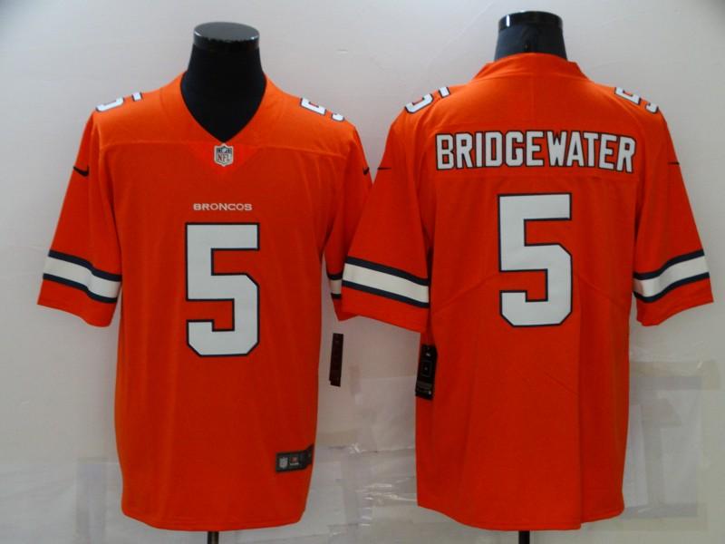 Nike Broncos 5 Teddy Bridgewater Orange Color Rush Limited Jersey