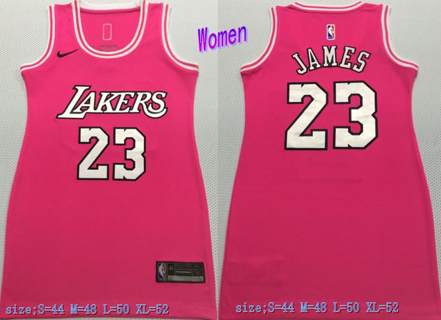 Lakers 23 LeBron James Pink Women Nike Swingman Jersey