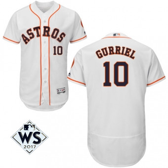 Astros 10 Yuli Gurriel White 2017 World Series Bound Flexbase Player Jersey