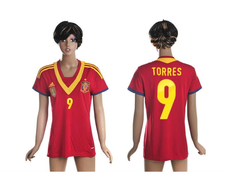 2013-14 Spain 9 Torres Home Women Thailand Jerseys