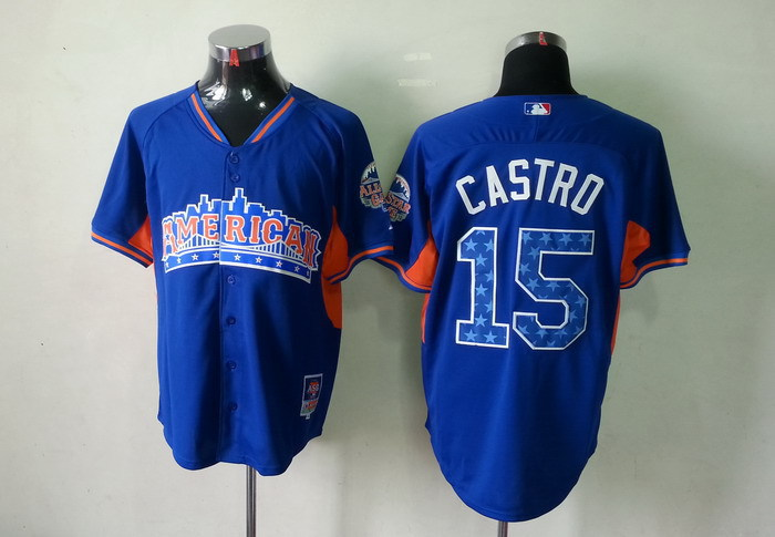 American League 15 Castro blue 2013 All Star Jerseys