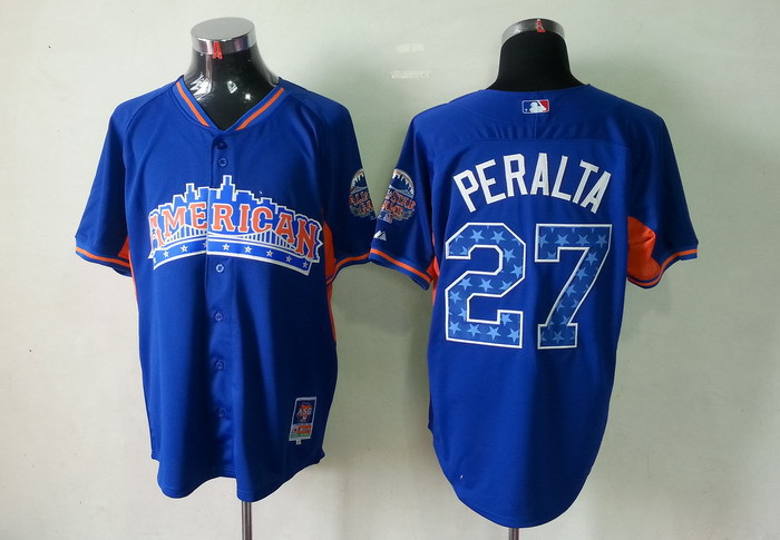 American League 27 Peralta blue 2013 All Star Jerseys