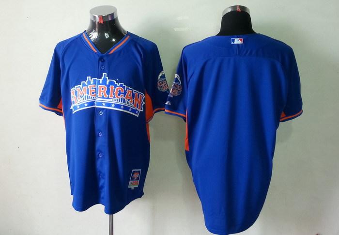 American League Blank blue 2013 All Star Jerseys
