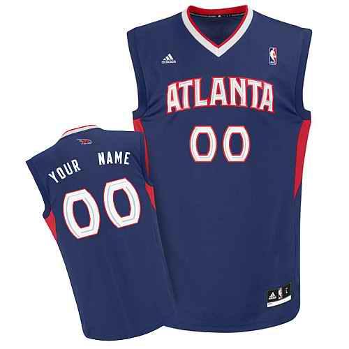 Atlanta Hawks Youth Custom blue V-neck Jersey