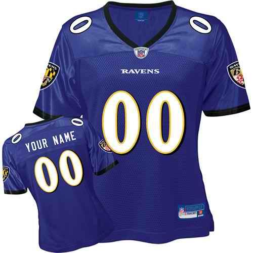 Baltimore Ravens Women Customized Purple Jersey