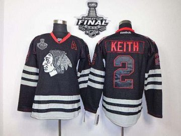 Blackhawks 2 Duncan Keith Black Accelerator With 2013 Stanley Cup Finals Jerseys
