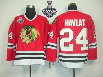 Blackhawks 24 Martin Havlat Red Ccm Throwback With 2013 Stanley Cup Finals Jerseys