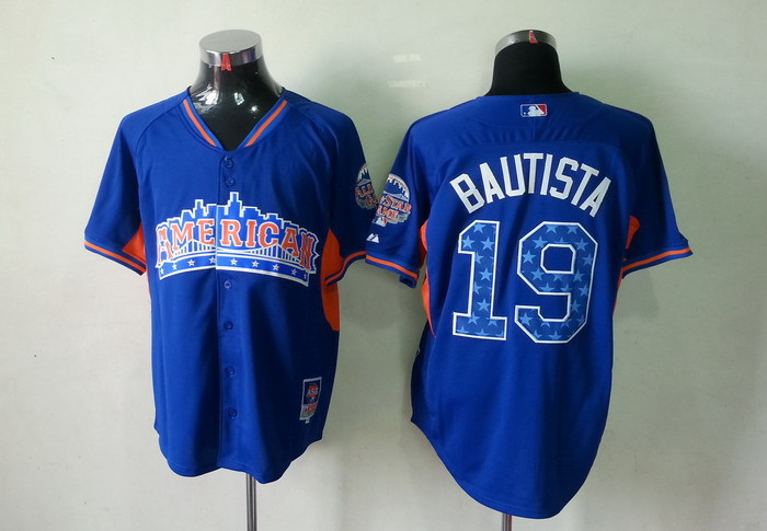 Blue Jays 19 Bautista blue 2013 All Star Jerseys