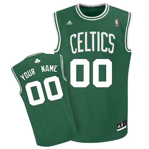 Boston Celtics Youth Custom green white number Jersey