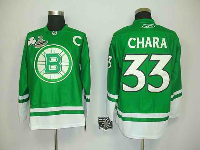 Bruin 33 Chara Green Champions Jerseys