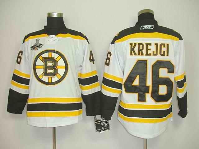 Bruins 46 Krejci White Champions Jerseys