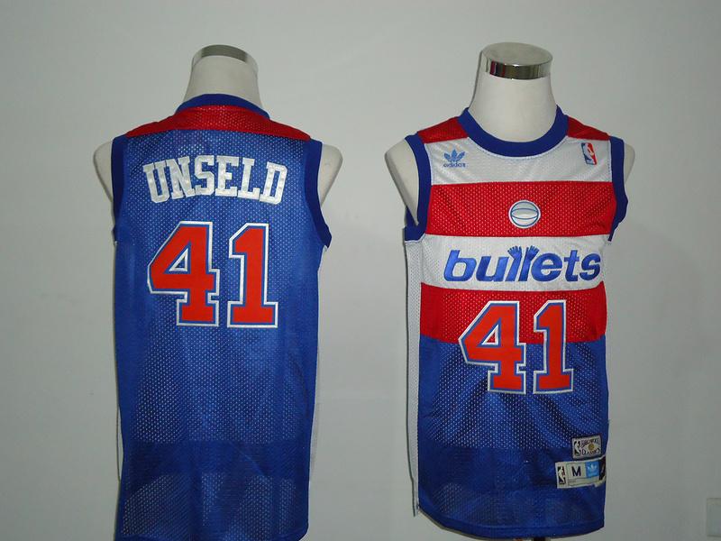 Bullets 41 Unseld Blue Jerseys