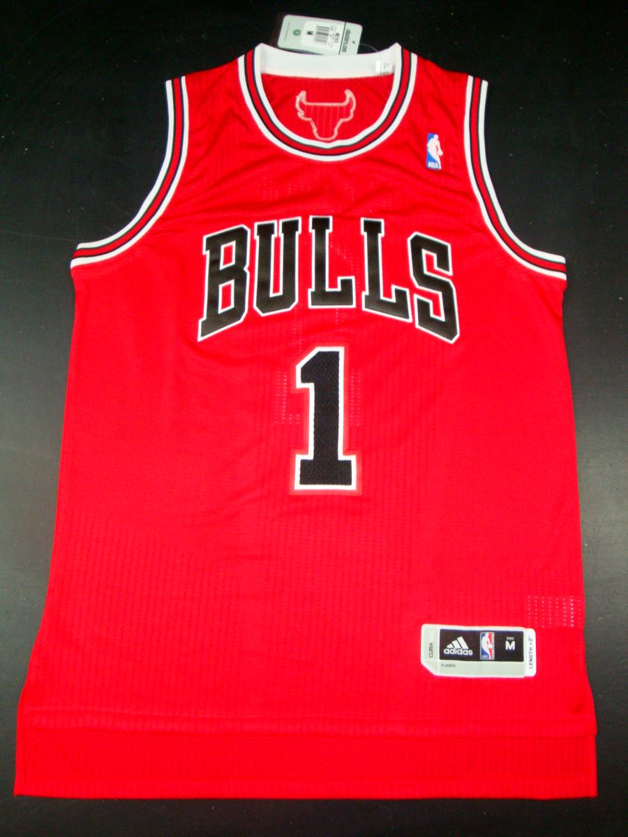 Bulls 1 Rose Red AAA Jerseys