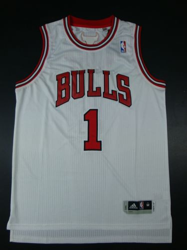Bulls 1 Rose White AAA Jerseys