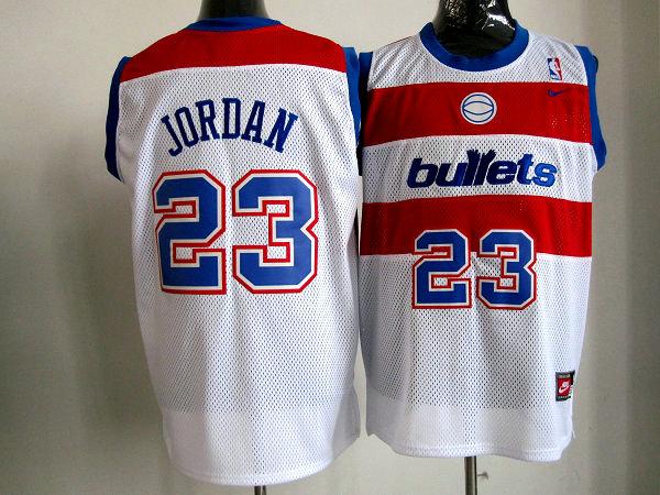 Bullets 23 Jordan White m&n Jerseys